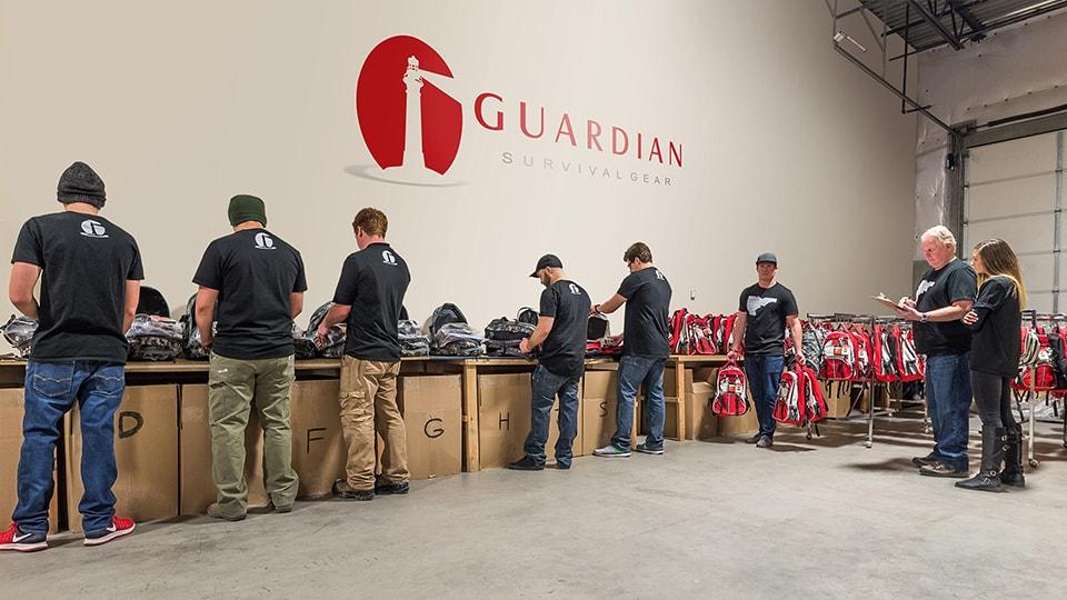 Guardian survival gear warehouse