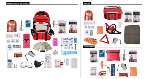 Emergency Preparedness Kit List Items Package - Deluxe Survival Kit Auto Kit Survival Mini Kit