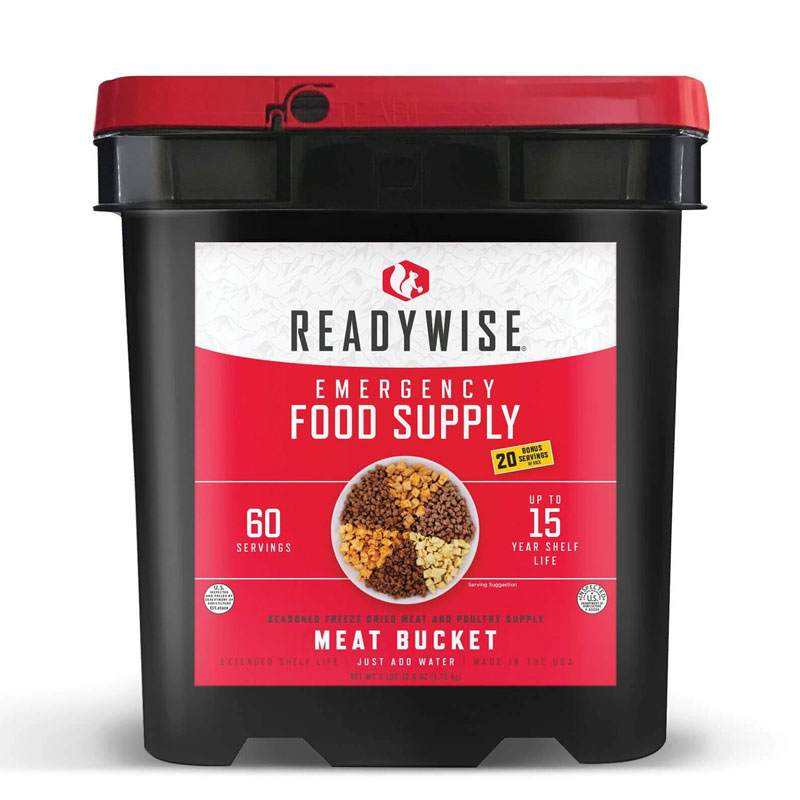 Ready-Wise-60-Serving-Freeze-Dried-Meat-Bucket-+-20-Servings-Of-Freeze-Dried-Rice