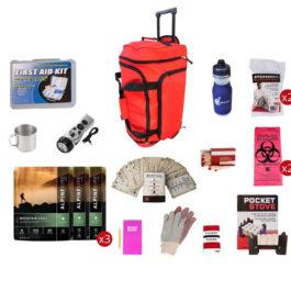 Food Storage Survival Kit with Large Wheel Bag