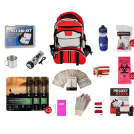 Food Storage Survival Kit with Multi-Pocket Hikers Backpack