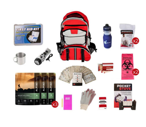 Food Storage Survival Kit with Multi-Pocket Hikers Backpack